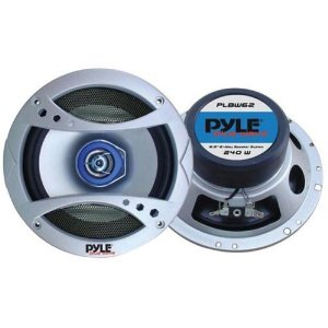 PYLE PLBW62 6.5-Inch 300 Watt Two-Way Speaker with Blue LED Light