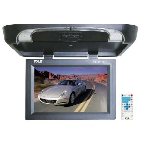 PYLE PLRD175IF 17'' Flip Down Monitor w/ Built in DVD/ SD/ USB Player w/ Wireless FM Modulator & IR Transmitter