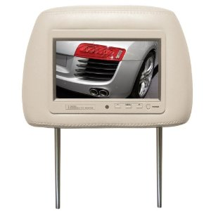 BOSS 7HRT 7-Inch Widescreen TFT Monitor One Universal Headrest with Pre-Installed (Tan)
