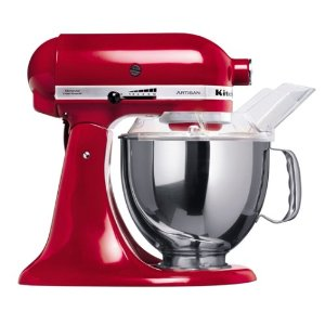 KitchenAid Artisan 5KSM150PSEER Empire Red 220 volt