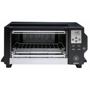 Krups FBC2 6-Slice Digital Convection Toaster Oven, Black