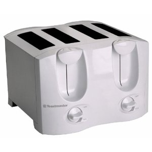 Toastmaster T2040W Dual Control 4-Slice Toaster