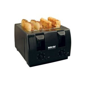 Better Chef 4 Slice Dual-Control Toaster in Black IM-242B