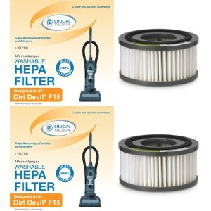 2 Dirt Devil F15 Filters; Compare to part #1-SS0150-000, 3-SS0150-001 (3SS0150001)