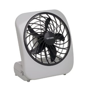 O2Cool 1041 Indoor/Outdoor Battery/AC-Powered 5-Inch Personal Fan