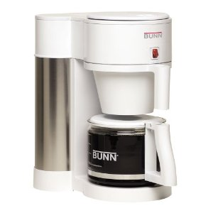 BUNN NHBX-W Contemporary 10-Cup Home Coffee Brewer, White