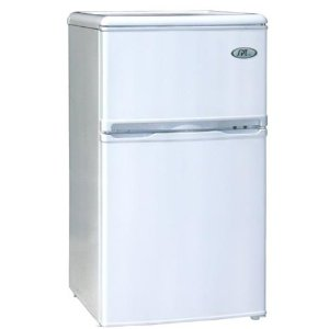 Sunpentown Energy Star 3.2-Cu Ft Double Door Refrigerator, White