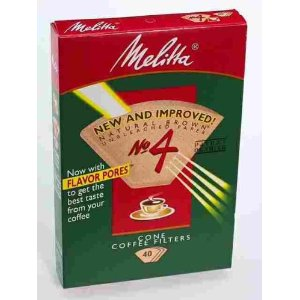 Melitta U S A Inc 624412 No. 4 Cone Natural Brown Paper Filter