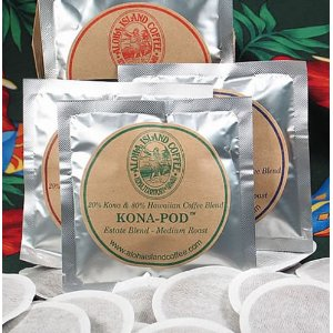 Aloha Island Variety Pack of Kona Hawaiian Coffee Pods, 18 Coffee Pods