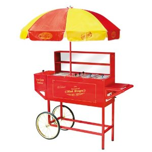 Nostalgia HDC-701 Carnival Hot-Dog Cart with Umbrella
