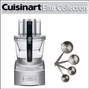 Cuisinart FP-12DC Die Cast Elite Collection 12-cup Food Processor With Stainless Steel Measuring Cups 4 Piece Set