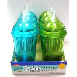 Back to Basics SITSECA2 Slushie Express Cup Asst. 6-Pack