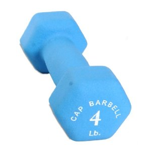 Cap Barbell Neoprene Dumbbell (Teal, 4-Pound)
