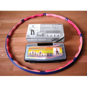Weighted Sports Hula Hoop for Weight Loss - Power Hoop 5B 5 Lb. With or Without Case