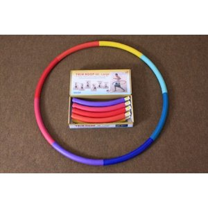 Weighted Sports Hula Hoop for Weight Loss - Trim Hoop 4B 4 lb. Travel Easy, Easy to Assemble/Disassemble