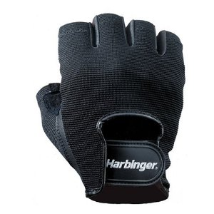 Harbinger 155 Power StretchBack Glove (Black)