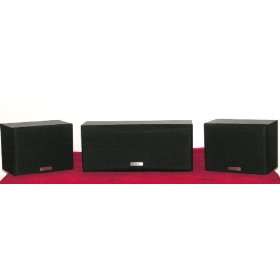 Kenwood CRS-159 Home 3 Piece Satellite and Center Channel Speaker System 100W each (MADE IN MALAYSIA)