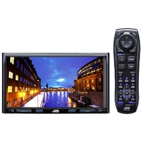 JVC KW-AVX820 Double-DIN DVD/CD Multimedia Receiver with 7-Inch Widescreen Detachable Touch Panel Monitor, Bluetooth, and Full-Speed USB Port