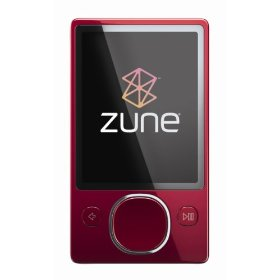Zune 120 GB Clamshell Digital Media Player Red/SilverBack