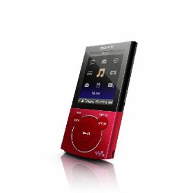 Sony Walkman E-340 Series 8 GB Video MP3 Player - Red (NWZ-E344)