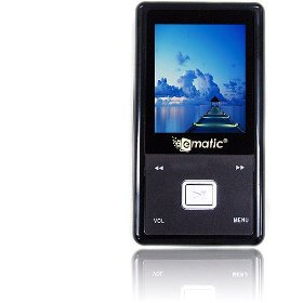 Ematic Color MP3 Video Player With Built-in FM Radio, Voice Recorder & Speaker 4 GB Black
