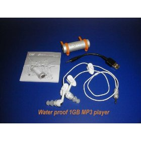 Waterproof MP3 Player 1GB for swimming & watersport