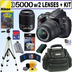 Nikon D5000 12.3 MP DX Digital SLR Camera with 18-55mm f/3.5-5.6G AF-S DX