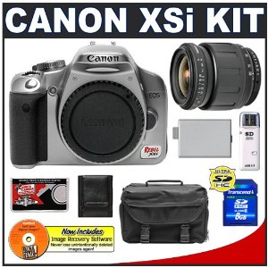 Canon EOS Digital Rebel XSi 12.2-Megapixel SLR Camera Body with Tamron 28-80mm Lens + 8GB Card + LP-E5 Battery + Case + Accessory Kit
