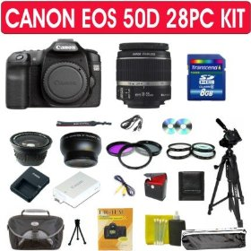 Canon EOS 50D SLR Digital Camera 28pc Kit with Canon 18-55mm Lens
