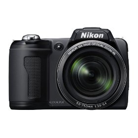 Nikon Coolpix L110 12.1MP Digital Camera with 15x Wide Angle Optical Vibration Reduction (VR) Zoom and 3.0