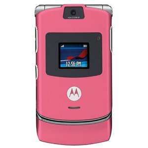 Motorola RAZR V3 Unlocked Phone with Camera and Video Player--U.S. Version with Warranty (Pink)
