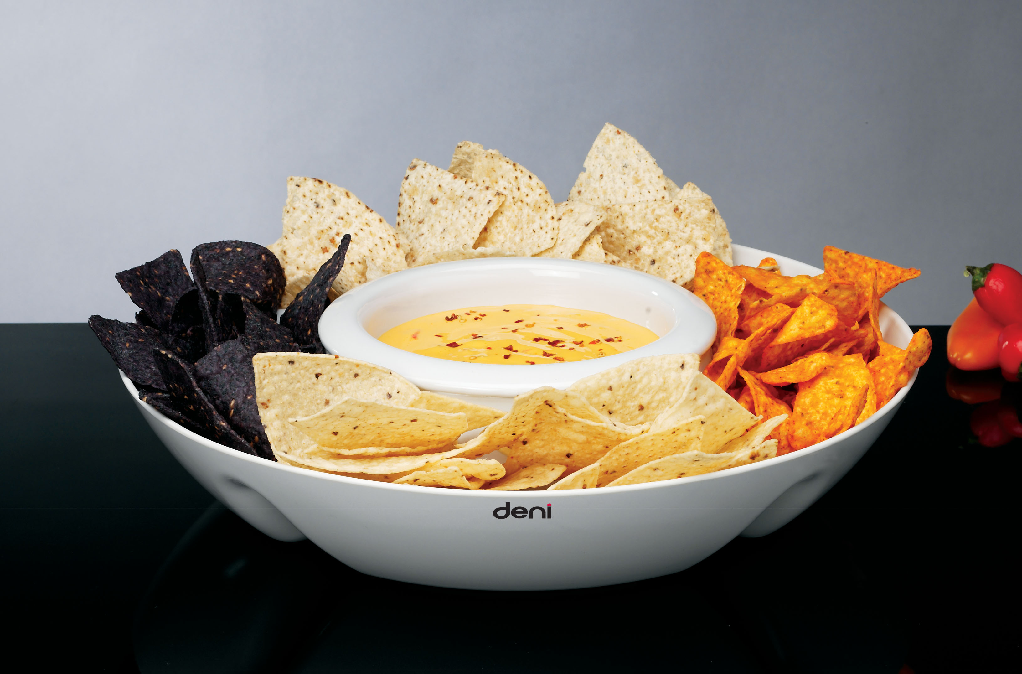 Deni 15700 chip n dip warmer server tray