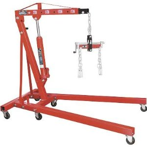 Torin Big Red 2-Ton Foldable Engine Hoist w/Free Load Leveler.