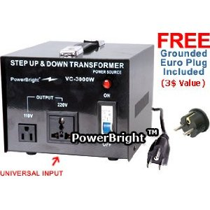 Power Bright VC3000W Voltage Transformer 3000 Watt Step Up/Down 110 Volt - 220 Volt