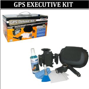 GREAT VALUE GPS ACCESSORY KIT FOR Garmin Nuvi 765T 255W 265T 255WT S65WT 285WT 1350T 855 205W 885T 360 350 200 260 260W 1690 1300 Includes GPS Hard Case + Dual Socket car Adapter + Bracket Mount + LCD Screen Protector