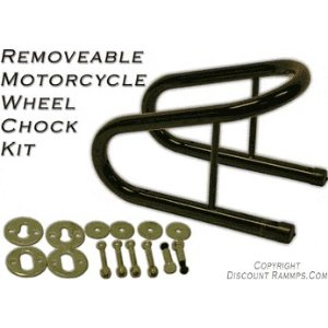 Removable Motorcycle Wheel Chock Kit 6.5