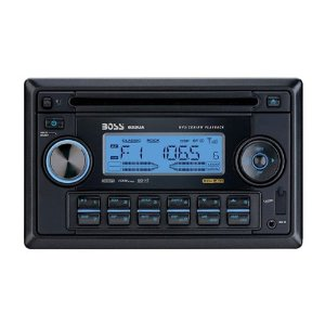 Boss 822UA In-Dash Double-Din CD/MP3 Receiver with Front Panel AUX Input, USB, SD Card