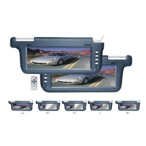 PYLE PLVSR10GR Pair of 10.2-Inch TFT/LCD Left and Right Sun Visor Monitors (Grey Color)