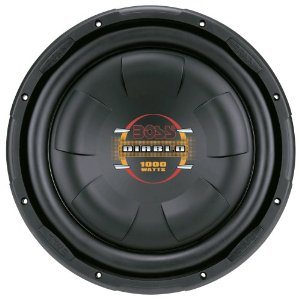 Boss Audio D12F 12-Inch 4-Ohm Diablo Flat Subwoofer - Single (Black)