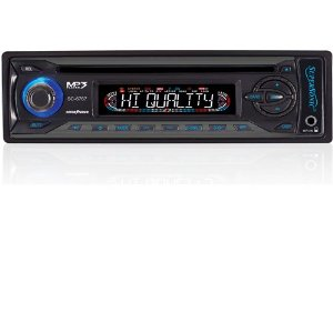 SuperSonic SC-6767M Car Audio In-Dash CD MP3 Player AM FM Stereo w/Aux