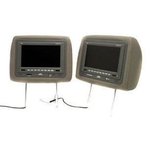Pair of New Tview T7929dvpl-gray Headrests with 9