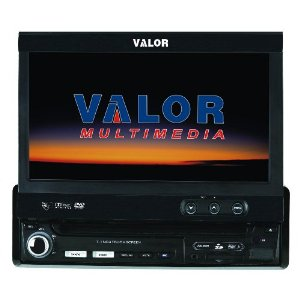 Valor Multimedia SD-902W Single Din AM/FM/CD/DVD with 7-Inch Monitor