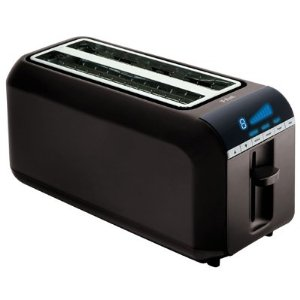 T-Fal TT6802002 4-Slice Digital Toaster, black