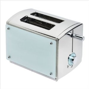 Kalorik TO-20621 Aqua 850-Watt 2-Slice Stainless-Steel Toaster with Glass Panels