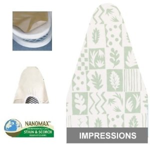 Ironing Board Cover & Pad Ultra (54x14) Impressions - Household Essentials #7001-22