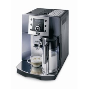 DeLonghi ESAM5500M Perfecta Digital Super-Automatic Espresso Machine, Metallic Blue