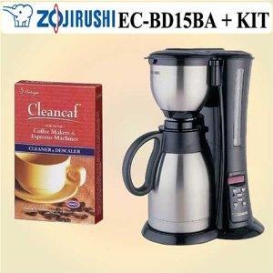 Zojirushi ECBD15 Fresh Brew Stainless Steel Thermal Carafe Coffee Maker w/ Decalcifier