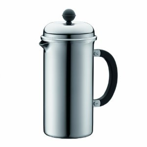 Bodum Chambord Hotel 8 Cup Stainless Steel French Press Coffeemaker, 1.0 l, 34-Ounce.