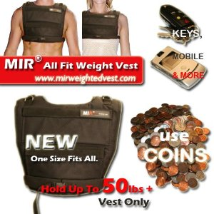 MIR - F.a.i. Weight Weighted Vest Can Hold up to 50lbs+ New!!! Fast Shipping, Great Quality, Worth Every Penny!!!