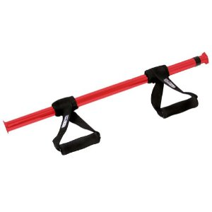 GoFit Dual Mount Adjustible Chin-up Bar - Red